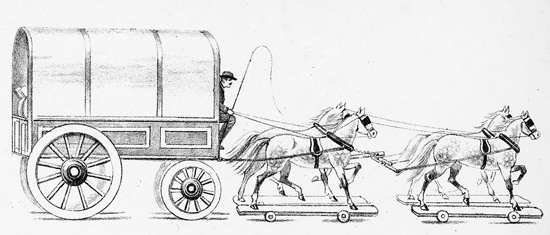 horse wagon team