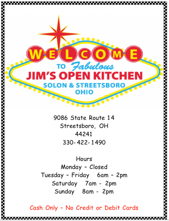 Jim's Open Kitchen Too-Streetsboro's Only Family Owned Diner - Portage News