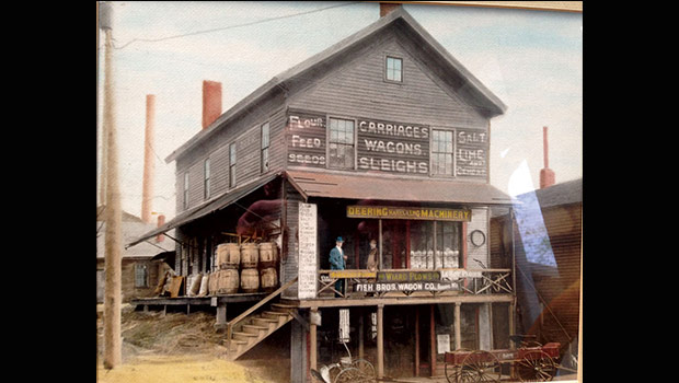 Photo of building dating back to the late 1800's courtesy of the Paul family.