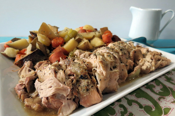 PPeanut Butter and Peppers' Italian Pork Tenderloin and Potatoes