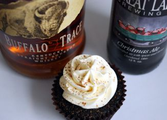 Christmas Ale cupcakes with bottles home sized